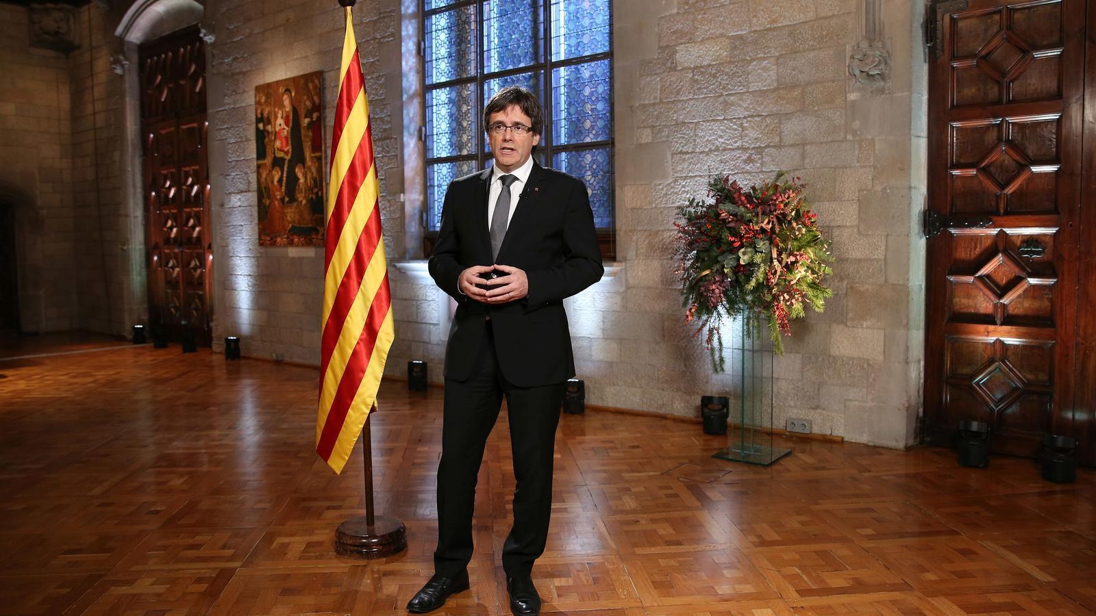 Puigdemont farà aquest dissabte el tradicional discurs de Cap d'Any des de Brussel·les