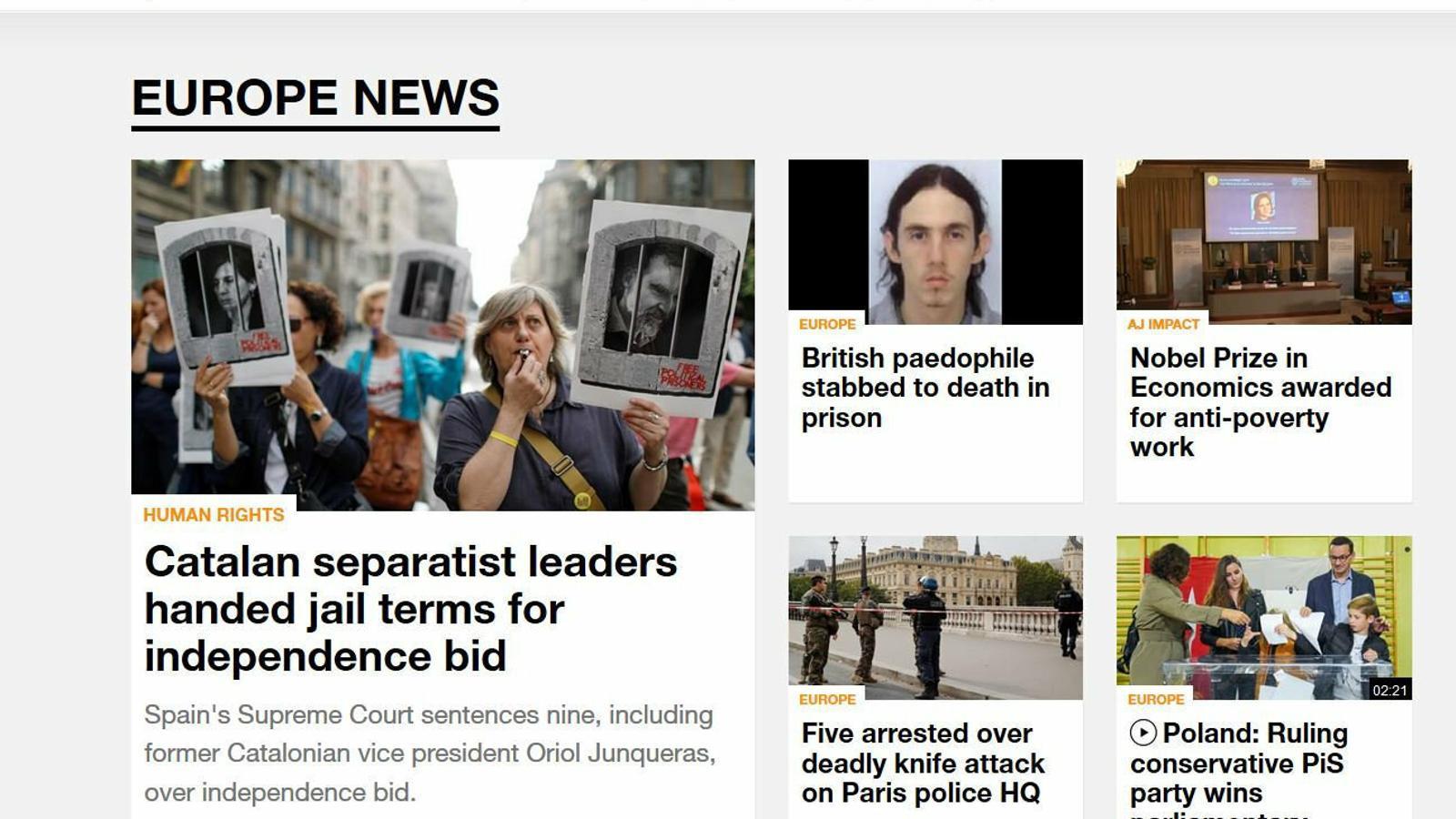 La sentència revifa l'interès de la premsa internacional pel Procés
