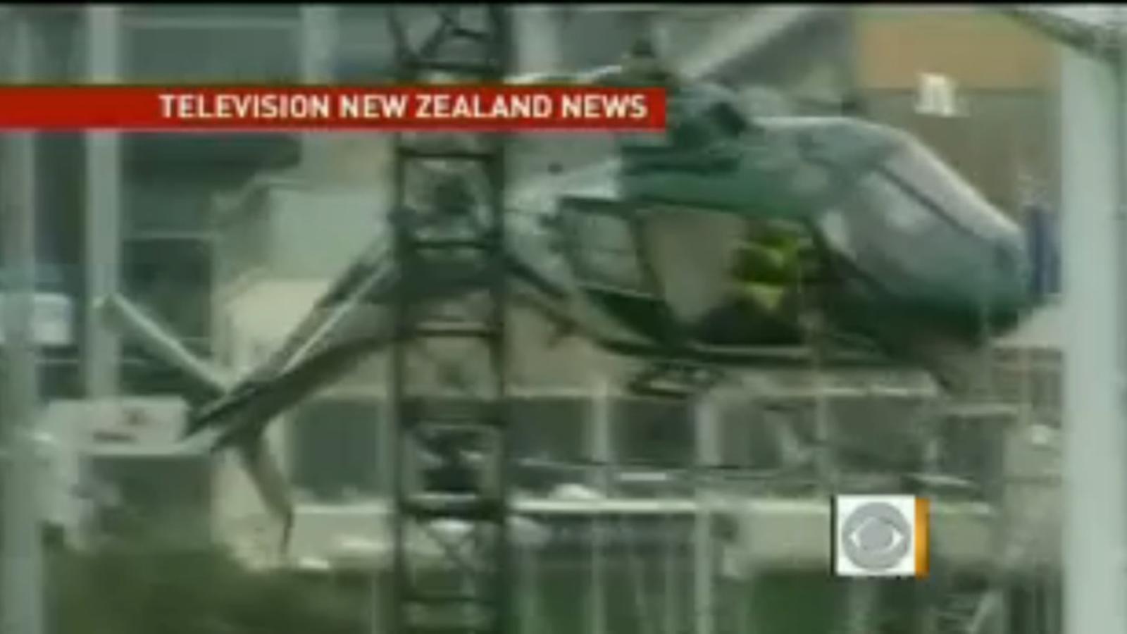 Un helicòpter queda destrossat després de topar amb els cables d'un arbre de Nadal a Nova Zelanda