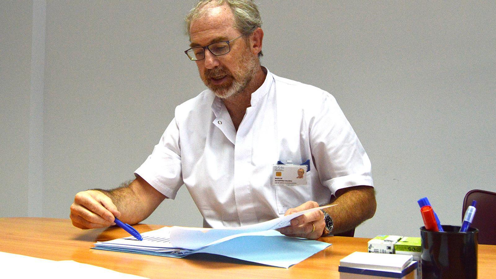 El cap d'Urgències de l'hospital Nostra Senyora de Meritxell, Marcos Gutiérrez. / M. F. (ANA)