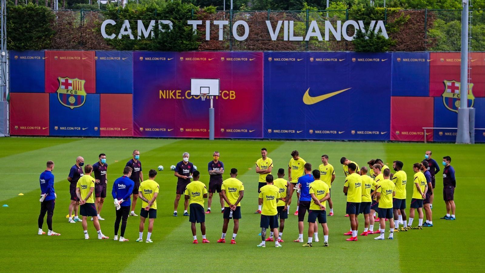 Els equips s'entrenen tots junts per primera vegada en tres mesos