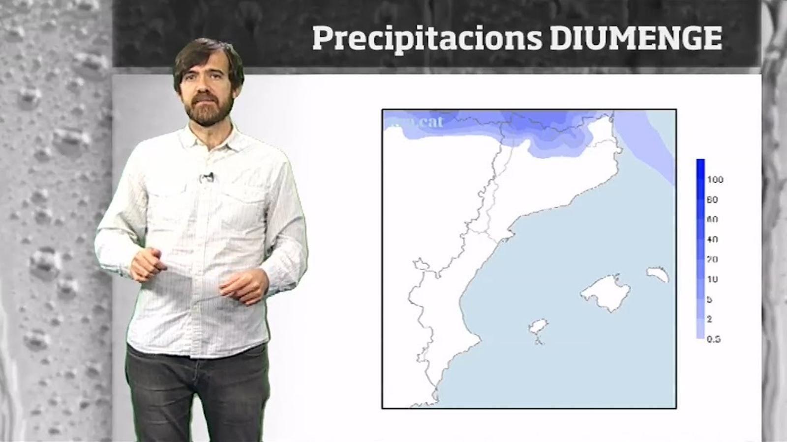 La méteo en 1 minut: pluja esporàdica a l'espera de més canvis de cara al cap de setmana