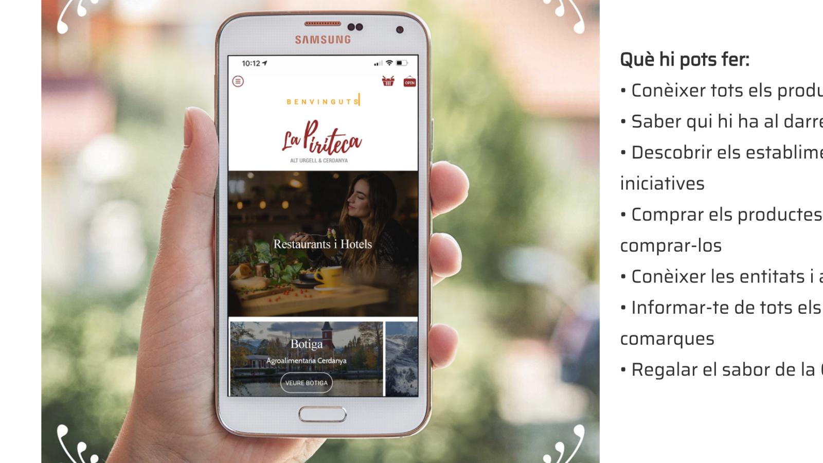 Una aplicació per saber on menjar productes de proximitat. / LA PIRITECA