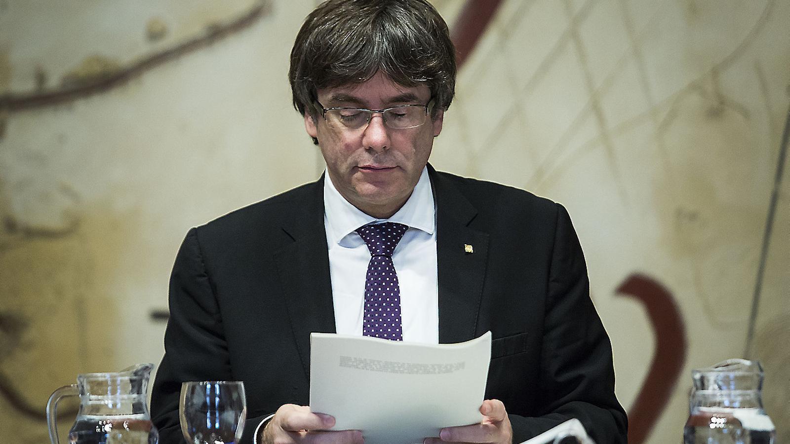 El president de la Generalitat, Carles Puigdemont, no assistirà avui al Senat.