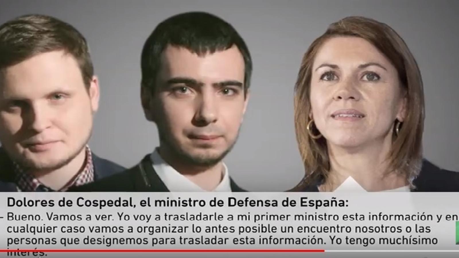 Cospedal cau de ple en una broma d'humoristes russos que es fan passar pel govern letó: creu que Puigdemont és espi