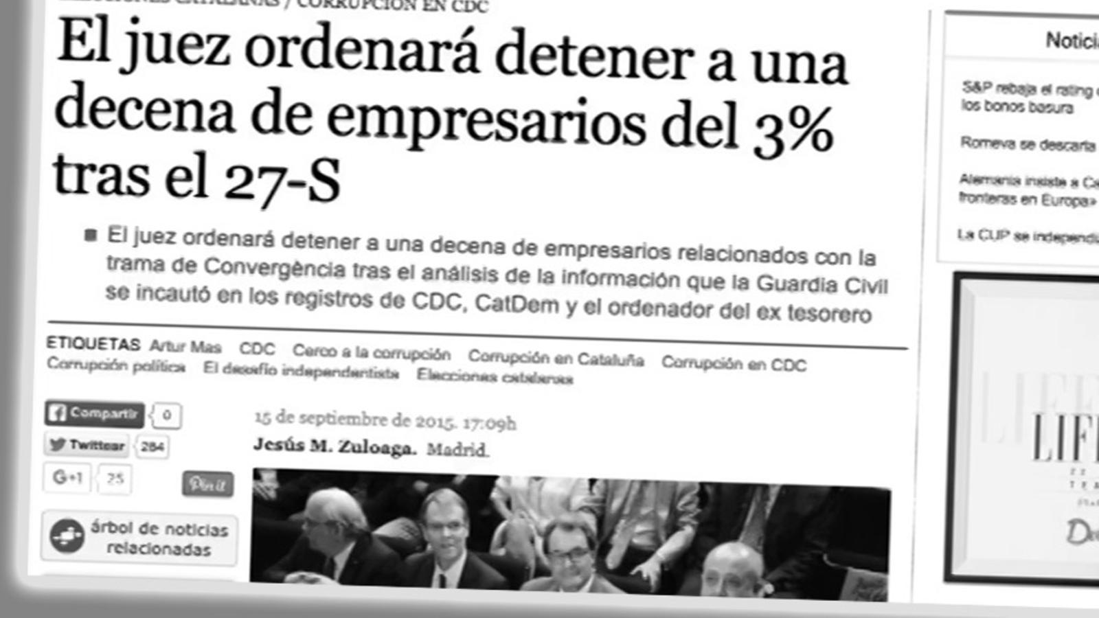 L'editorial d'Antoni Bassas: El pensament de Mas (22/10/15)