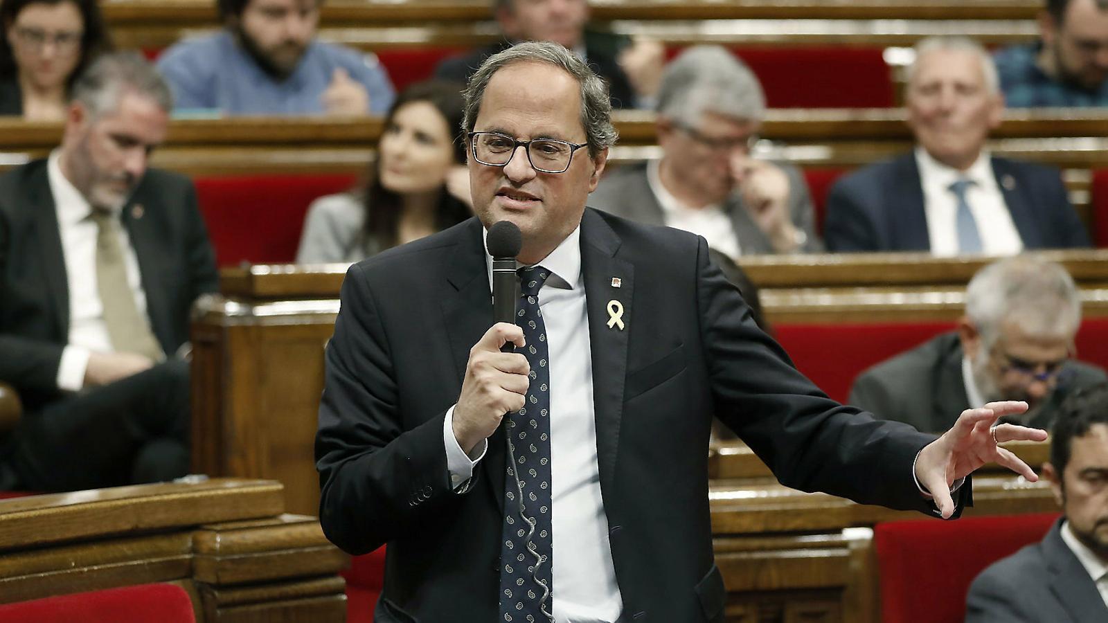 El independentismo recupera la mayoría en el pleno