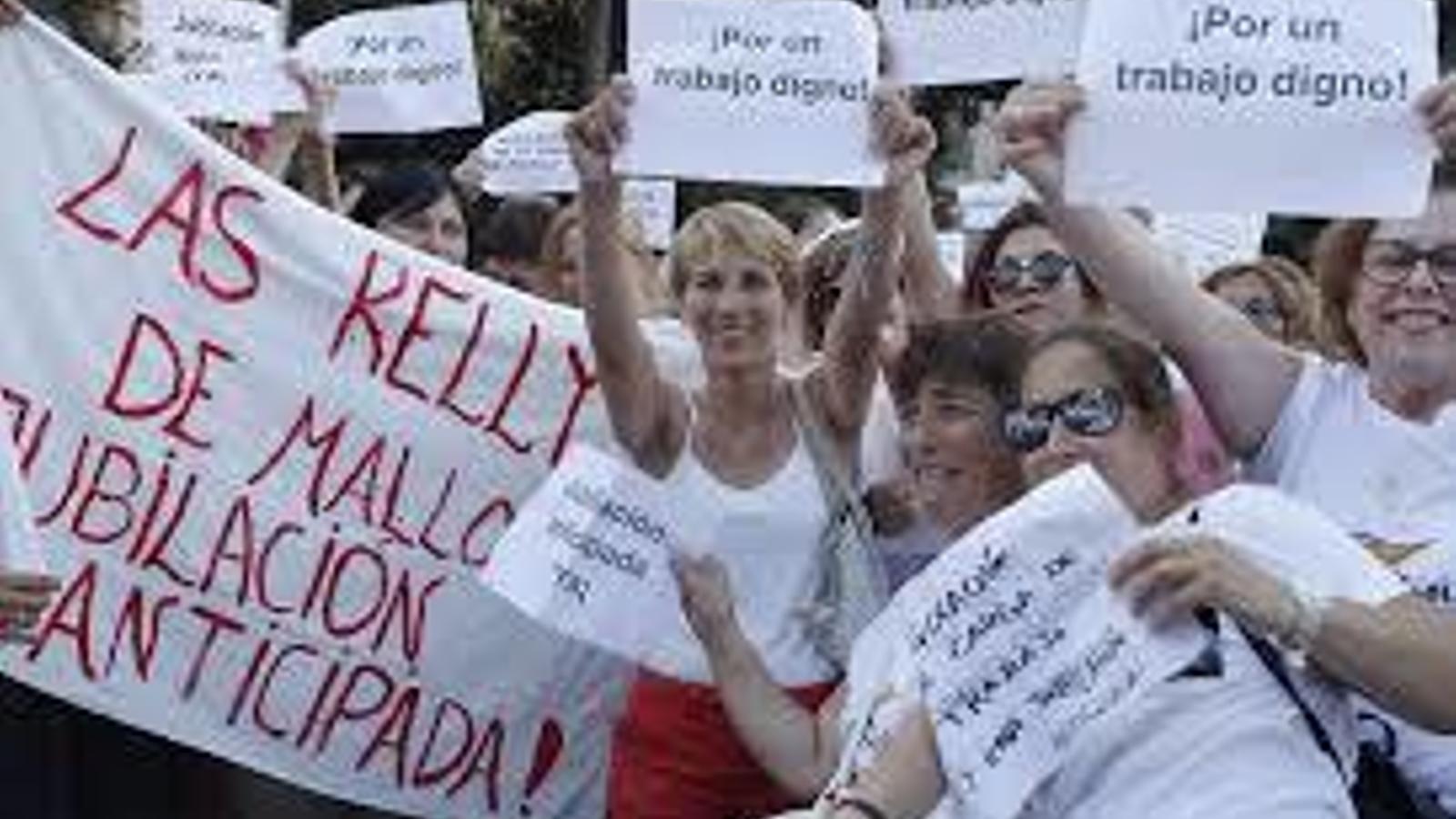 Les Kellys Unió Balears durant una protesta celebrada a Palma