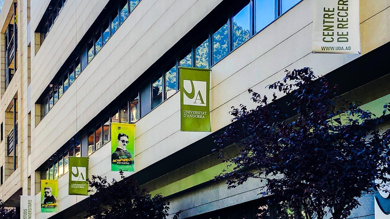 La façana de la Universitat d'Andorra (UdA). / UNIVERSITAT D'ANDORRA