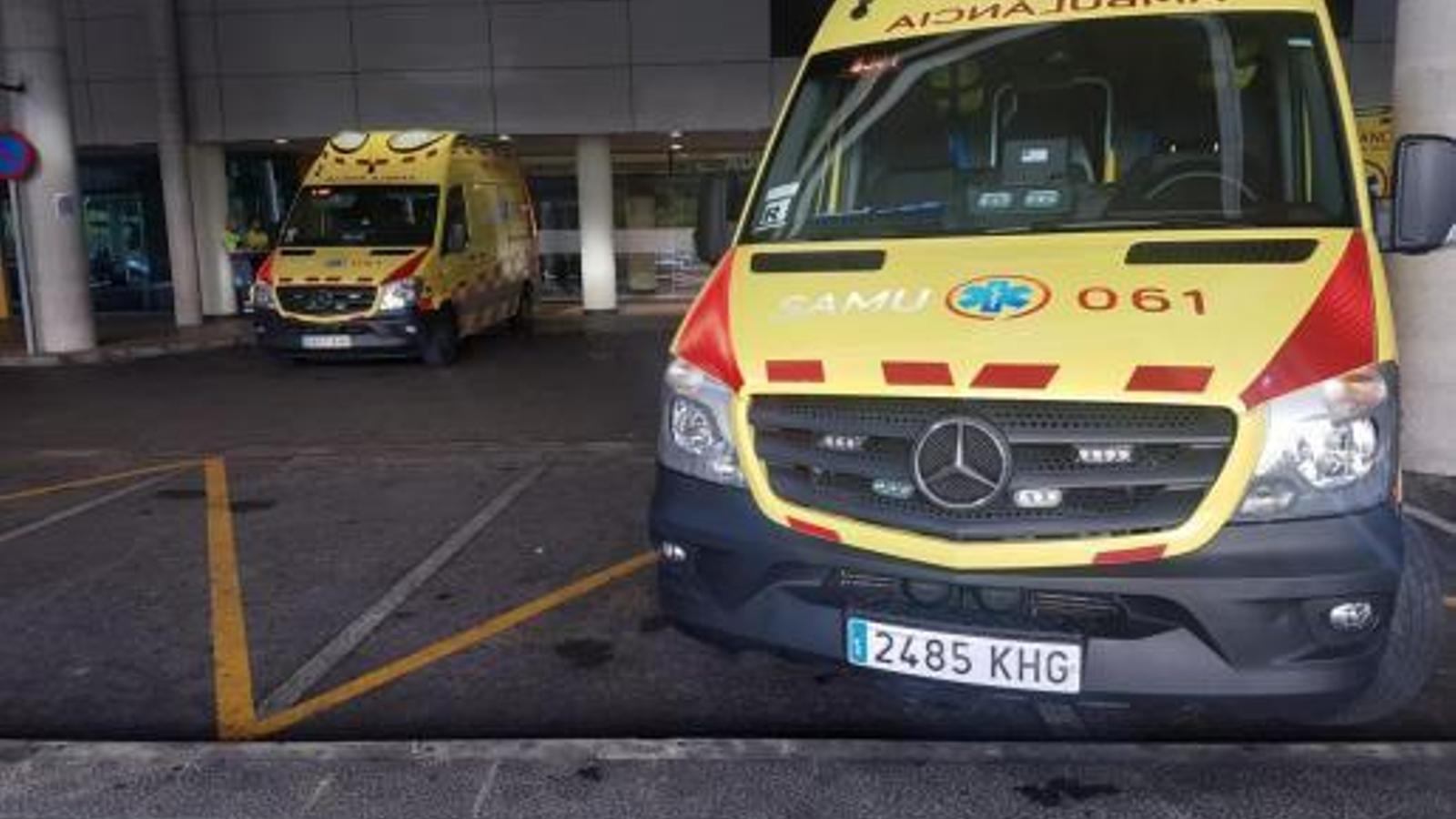 Dues persones han resultat ferides per un incendi a Palma