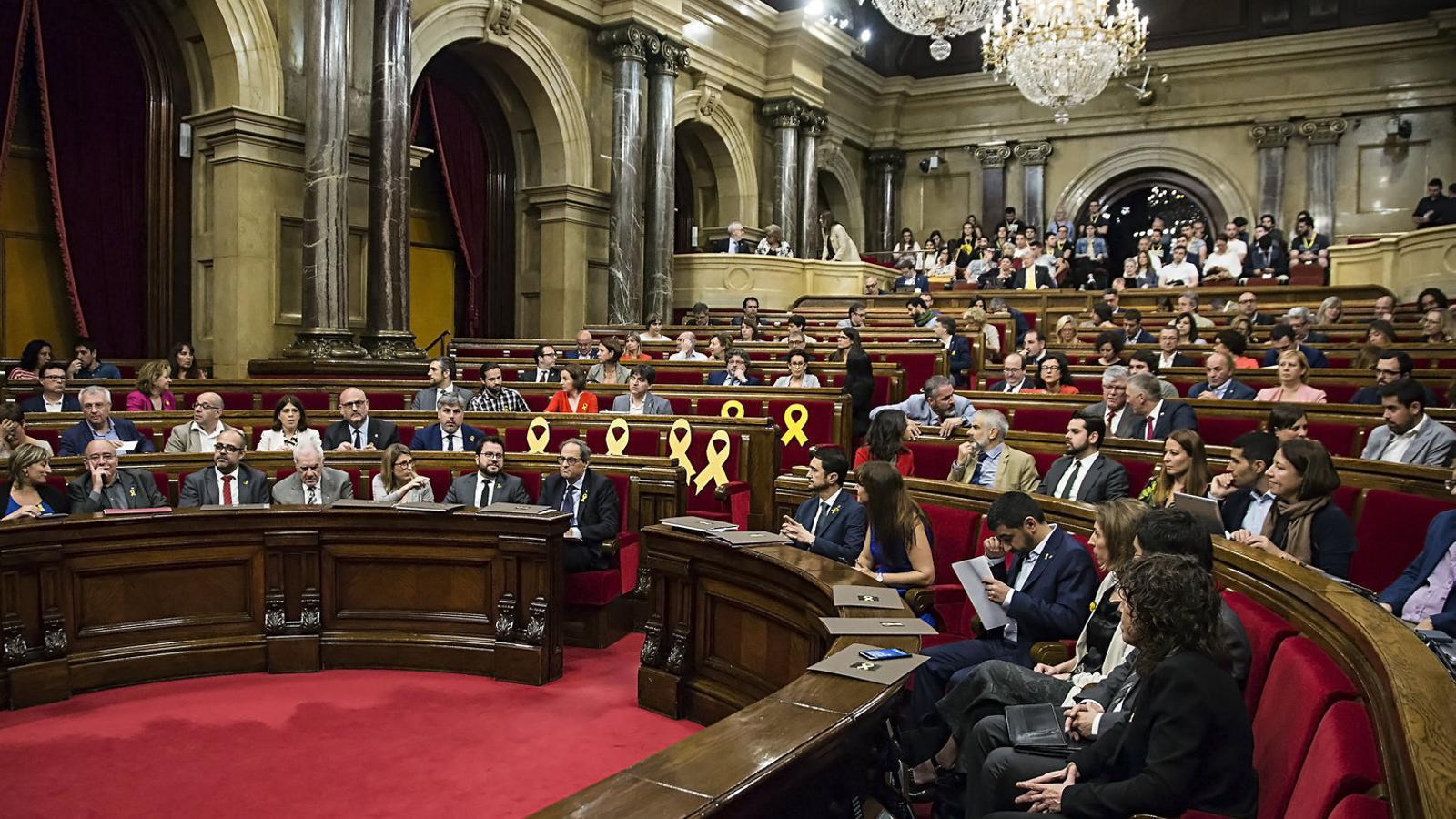EN DIRECTE: Ple al Parlament