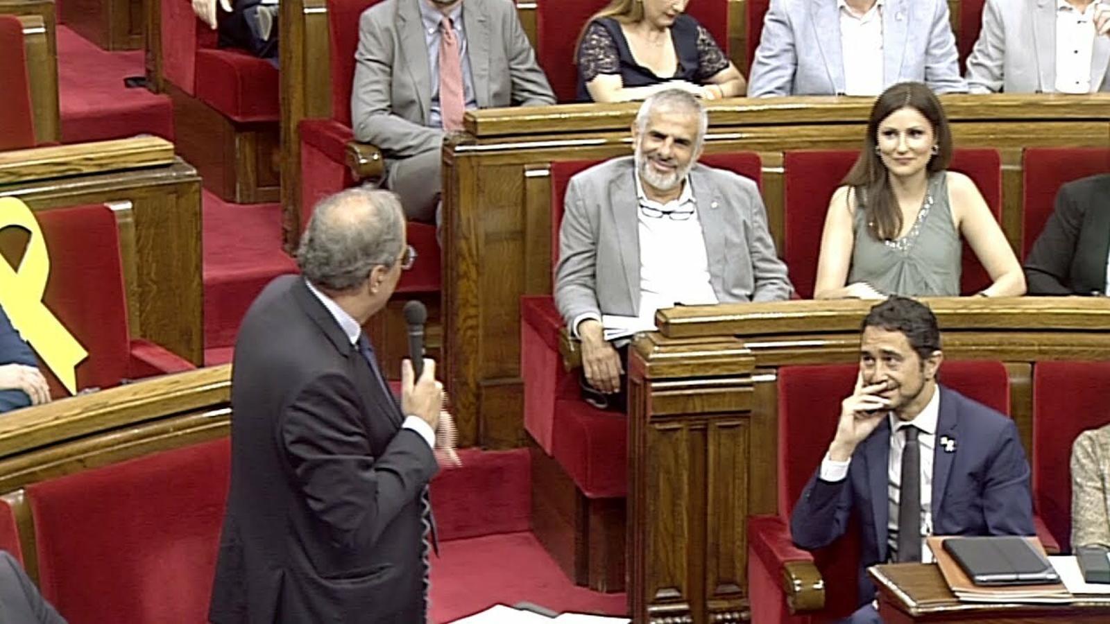 """Torra, a Lorena Roldán: """"Han passat del 'vamos Ciudadanos' a 'nos vamos de Ciudadanos'"""""""