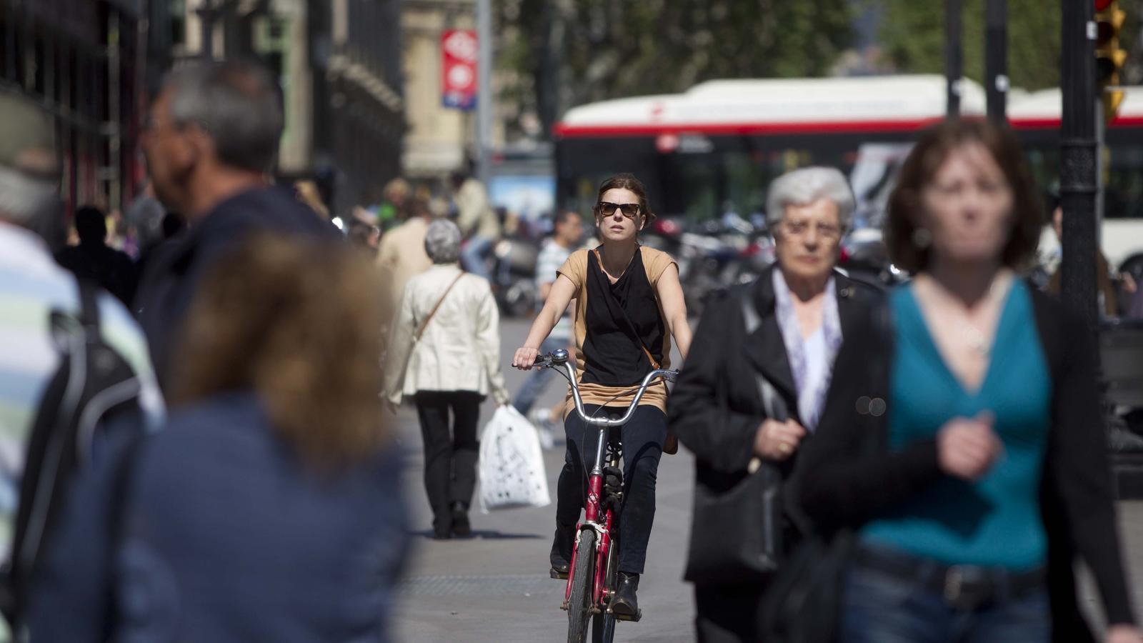 Una ciclista