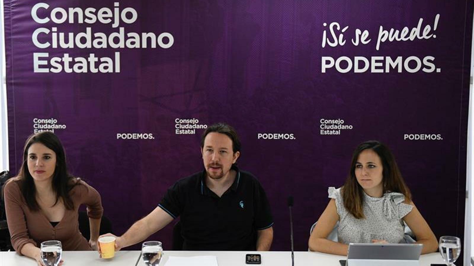 """Iglesias, a Sánchez: """"El 28-A va guanyar demanant el vot de l'esquerra perquè no governés la dreta i ara demana el vot de la dreta perquè no governi l'esquerra"""""""