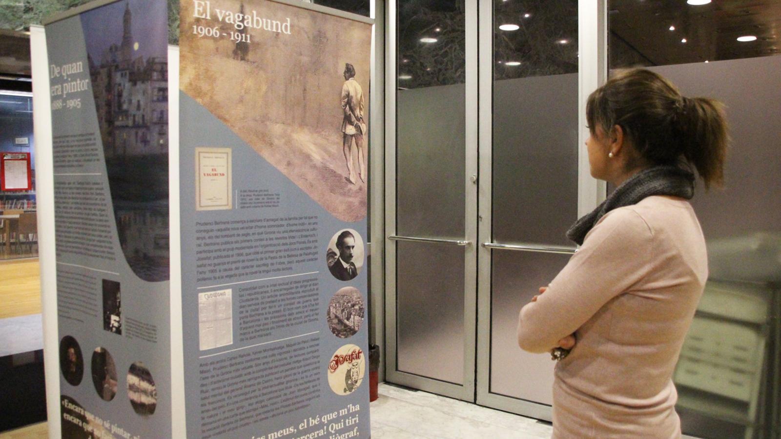 L'exposició dedicada a Prudenci i Aurora Bertrana a la biblioteca de Sant Julià de Lòria. / E. J. M. (ANA)