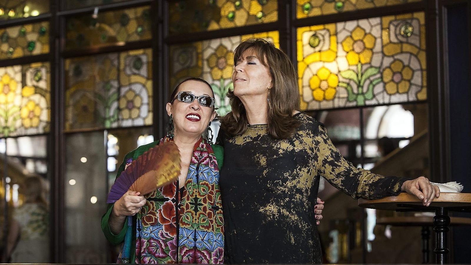 Martirio i Maria del Mar Bonet, ahir al Palau de la Música.
