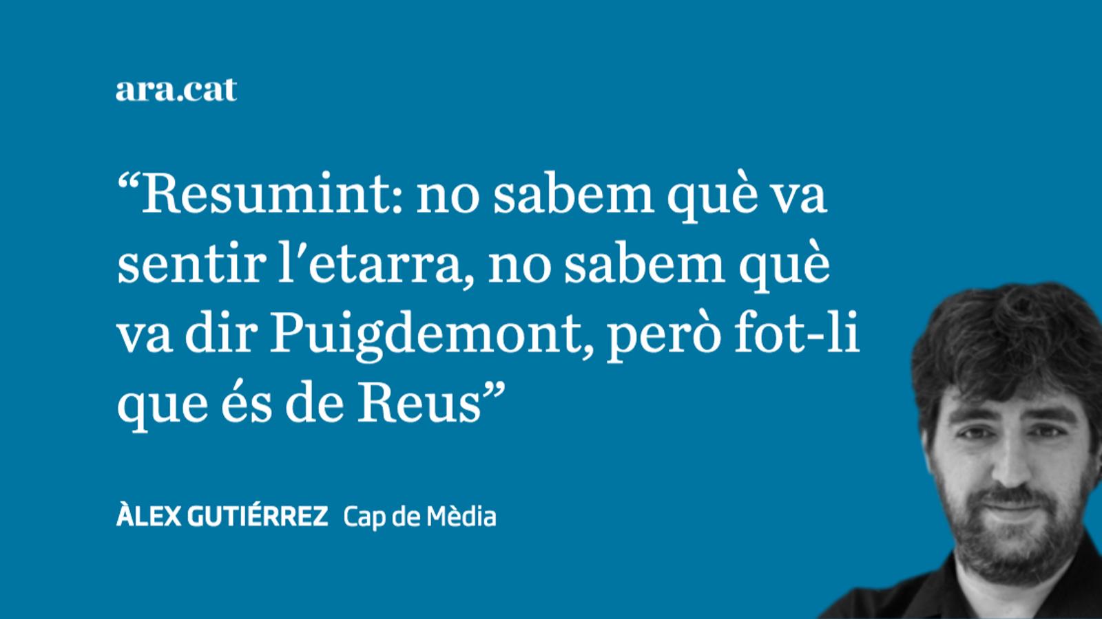 'El Mundo' contra Puigdemont a cop de llamàntol