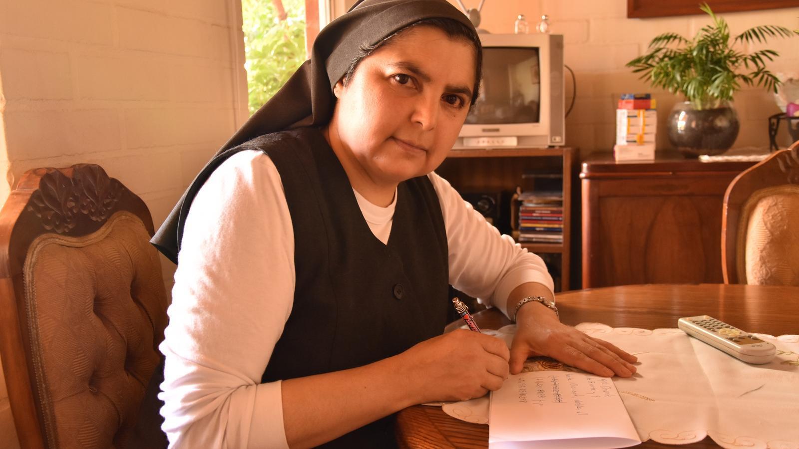 La hermana Yolanda la semana pasada en Talca. / M. B.