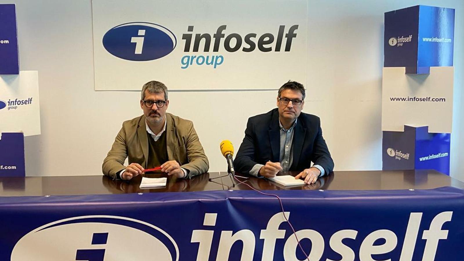 Cesc Riera i Xavi Fernández, director financer i director general de l'Spar Citylift Girona
