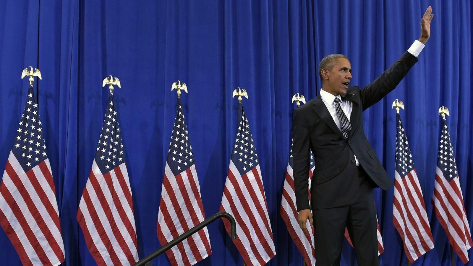El president Barack Obama va defensar ahir la seva política antiterrorista a la base aèria MacDill, a Tampa, Florida.