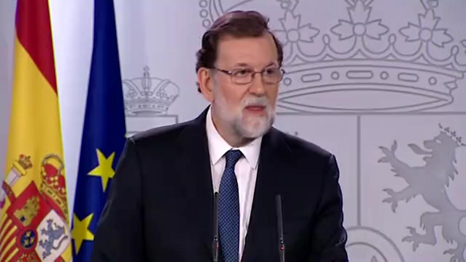 El discurs de Mariano Rajoy sobre les mesures de l'article 155.