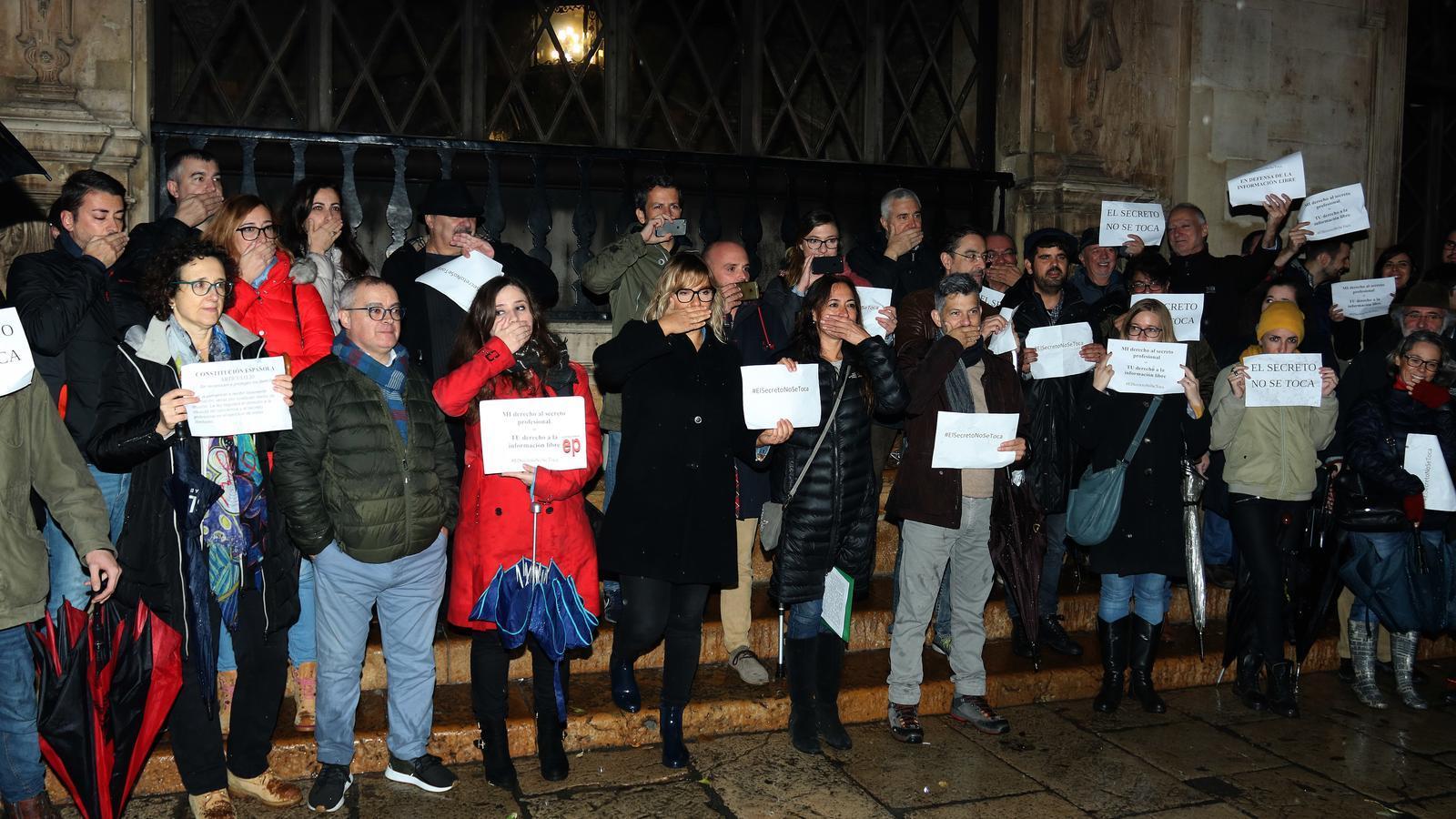 La manifestació ha tengut lloc a la plaça de Cort, a Palma