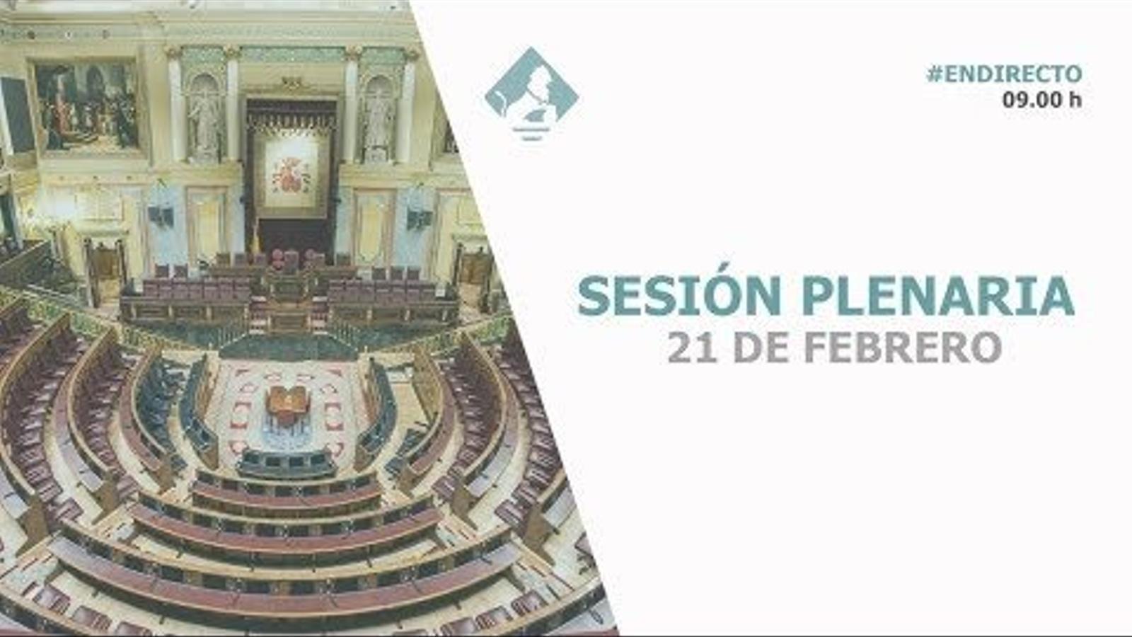 Directe Sessió de Control Congrés