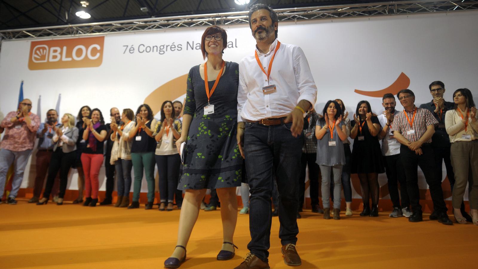 Àgueda Micó, com a coordinadora nacional, i Rafa Carbonell, com a portaveu del partit, seran els encarregats de dirigir el Bloc durant els pròxims anys.