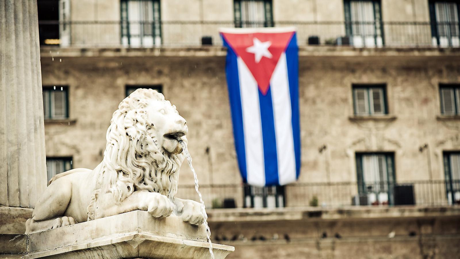 Des de l'any 2000, el sistema d'aigües de l'Havana el gestiona Agbar a través d'Aguas de La Habana. A la imatge, una font de la capital cubana.