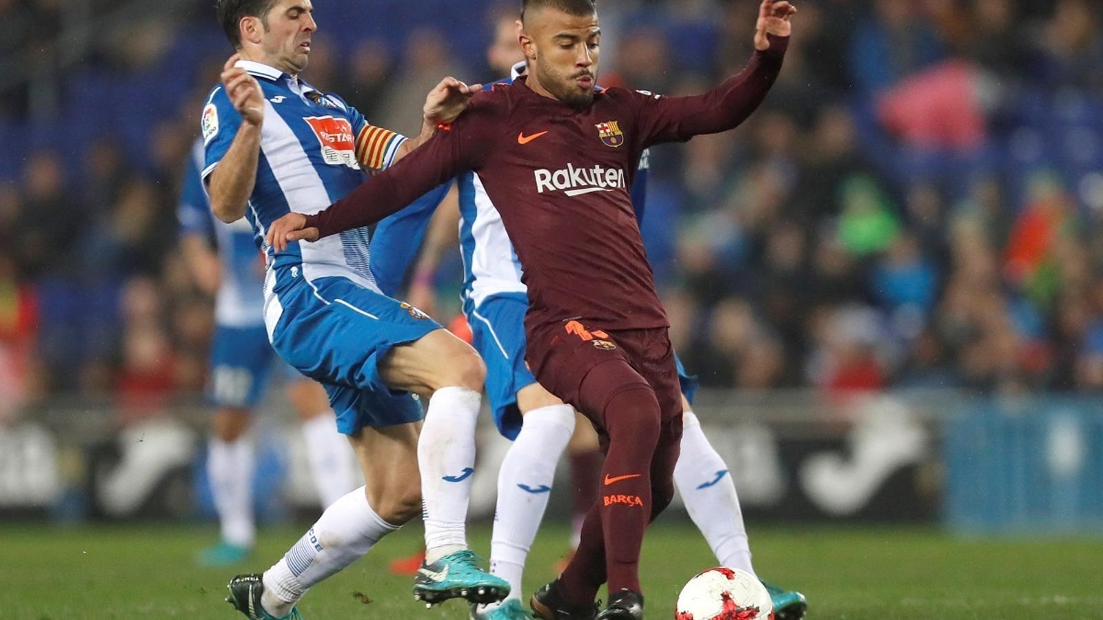 Rafinha va tornar a jugar en el derbi contra l'Espanyol