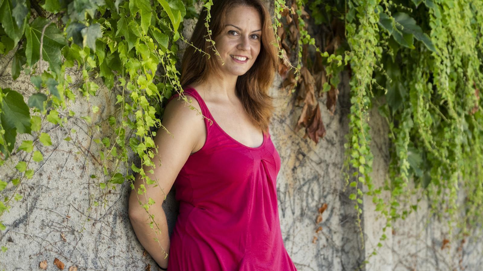 l'escriptora Sílvia Cantos