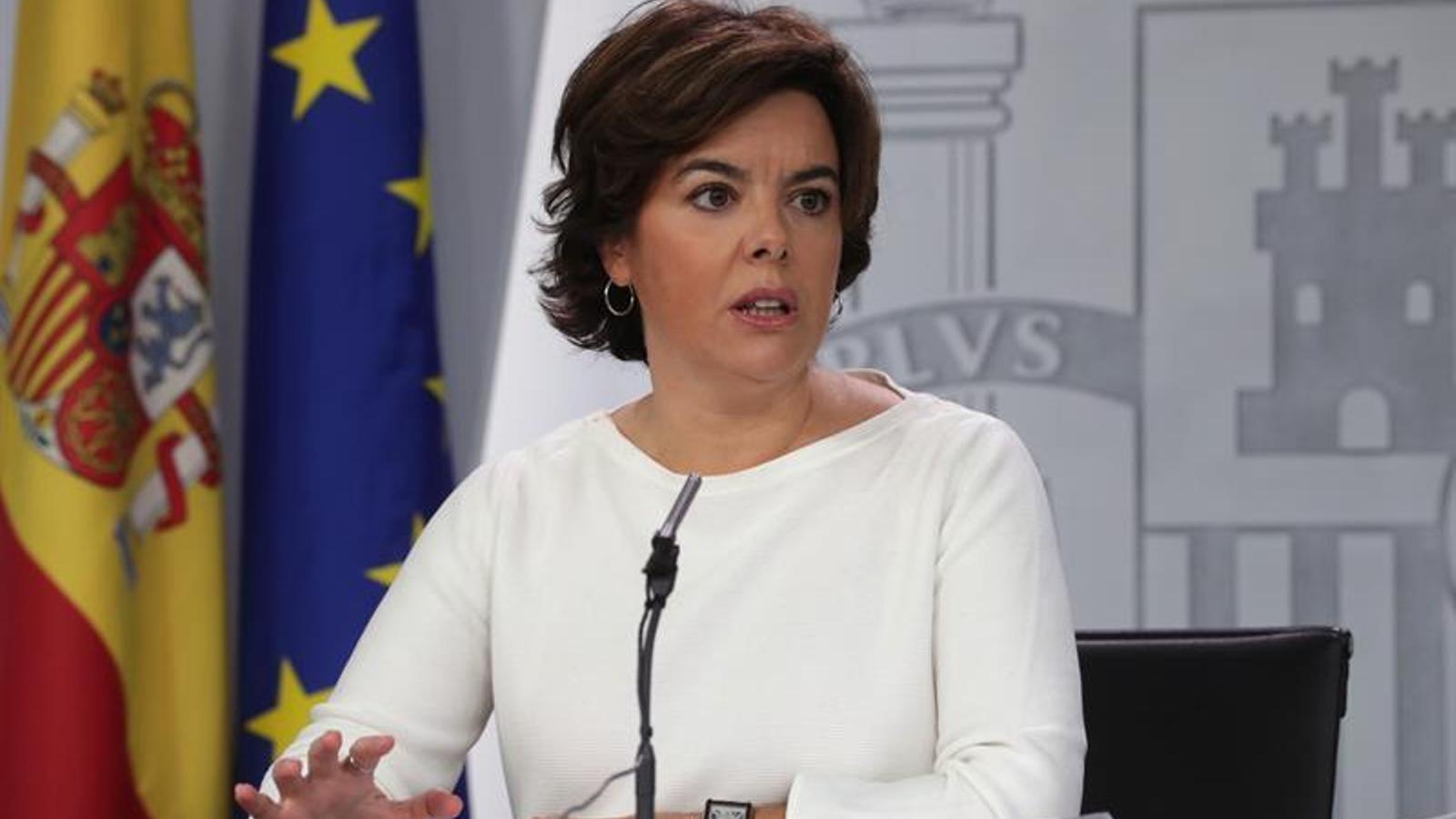 Soraya Sáenz de Santamaría compareix a la Moncloa