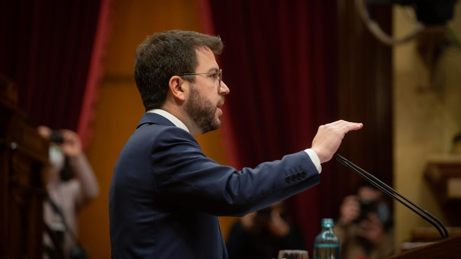 El vicepresident Aragonés, intervenint avui al Parlament