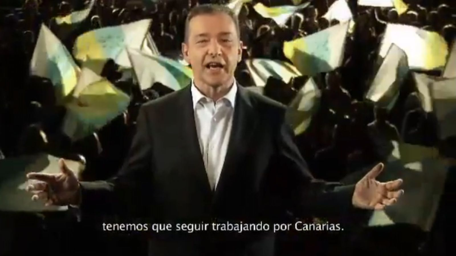 Paulino Rivero 'imita' Artur Mas en un vídeo electoral de Coalició Canària