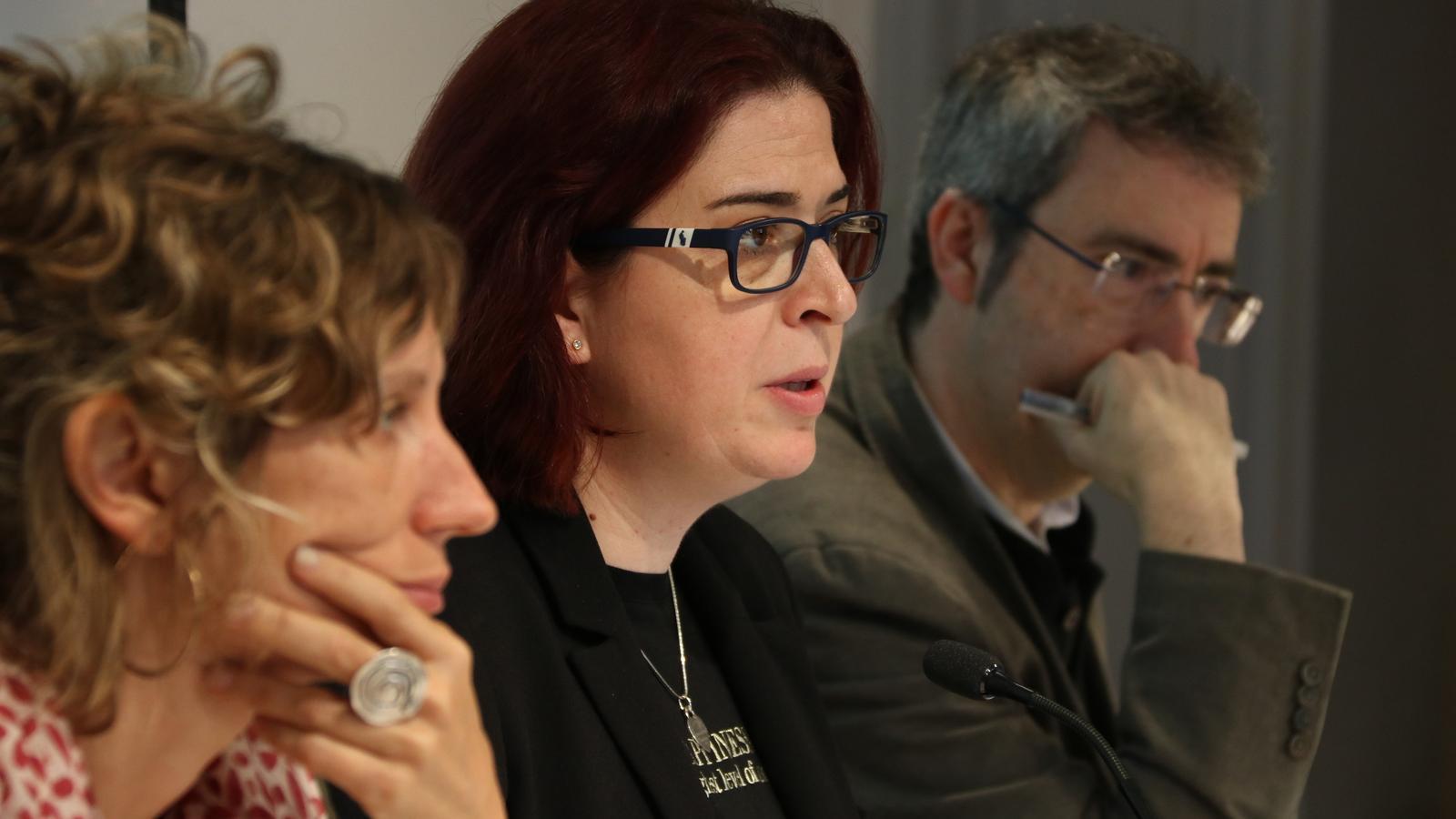 Gemma Rodríguez, Àngels Gregori i Jaume Subirana, aquest matí.
