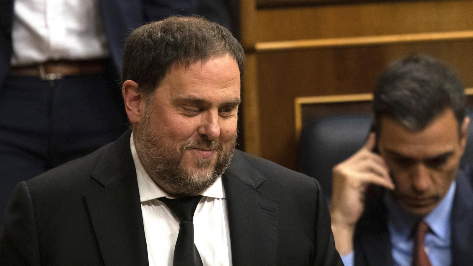 Oriol Junqueras a Madrid essió plenària d'obertura al Parlament espanyol el maig