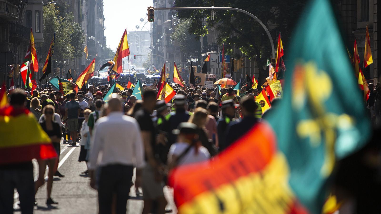 Assistents a la manifestació del 29 de setembre a Barcelona, organitzada per Jusapol