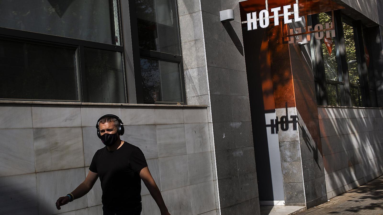 Un dels hotels de Barcelona que està  en venda.