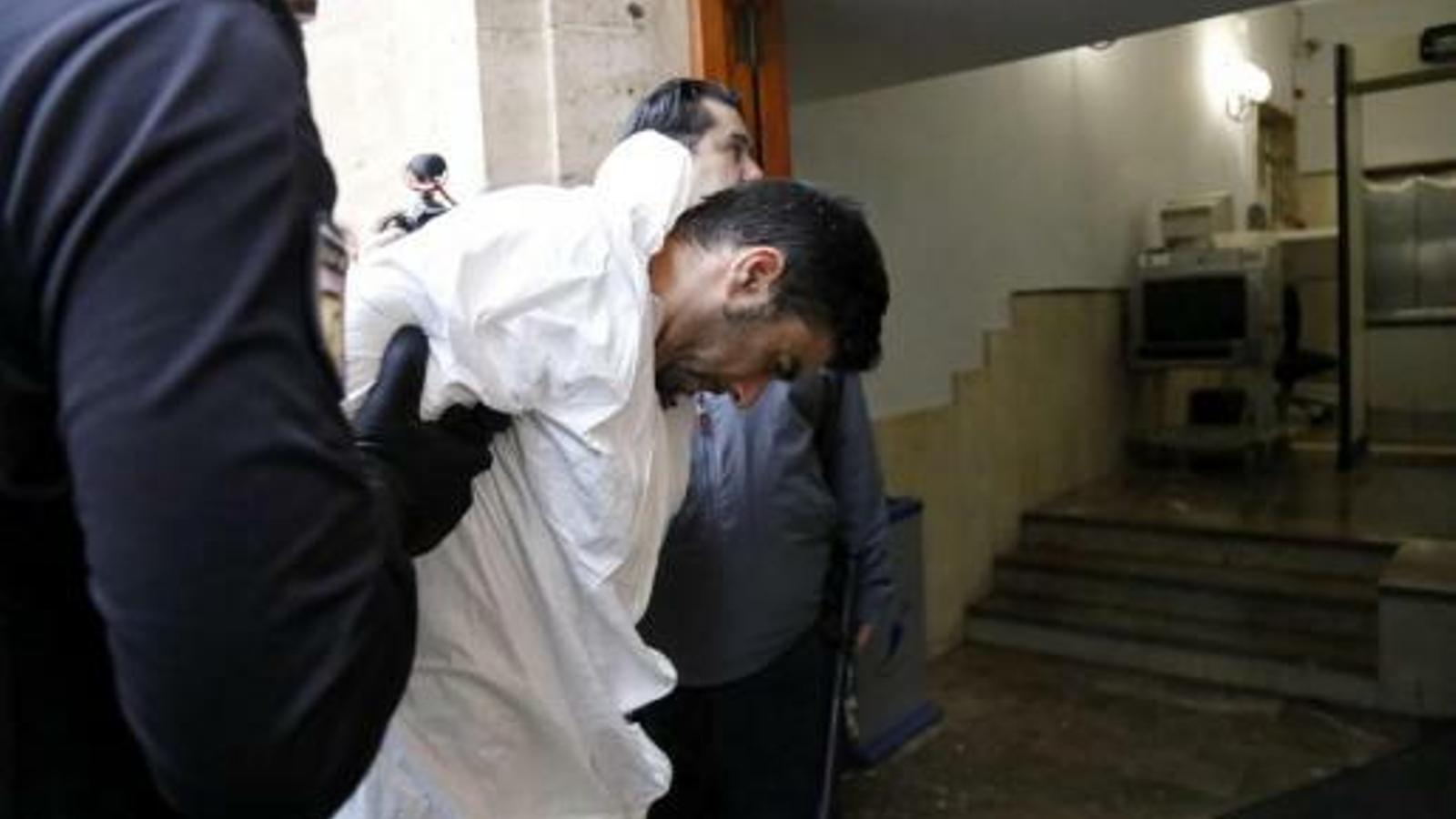 Pantoja en el moment de ser posat a disposició judicial al novembre / A. Sepúlveda