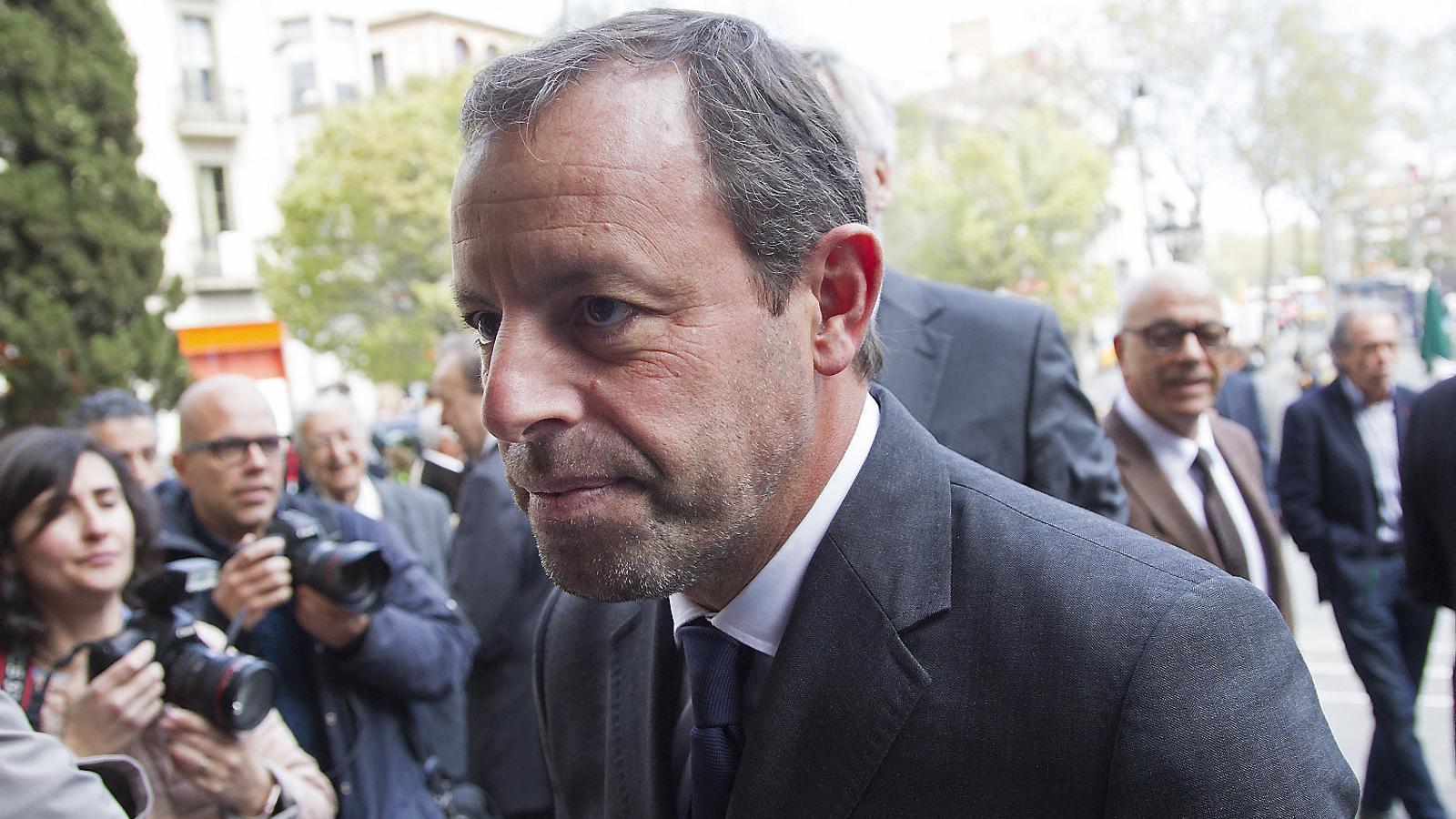 Sandro Rosell, en una imatge d'arxiu, va afirmar haver venut l'empresa BSM el 2011.