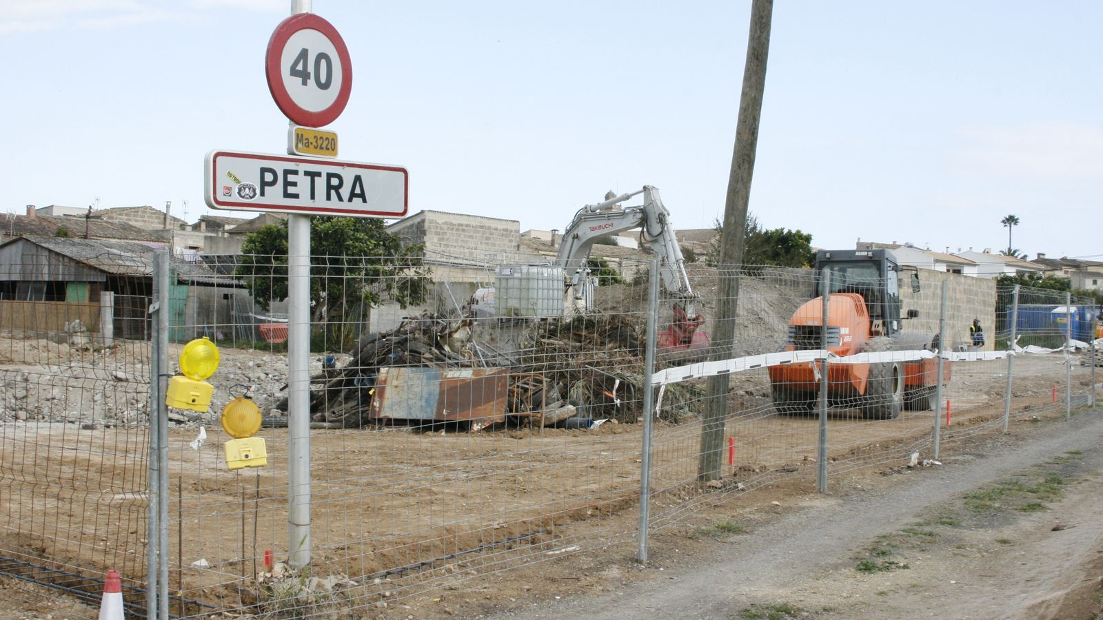 Zona de l'entrada a Petra on es construeix un àrea d'estacionament per a 80 vehicles.
