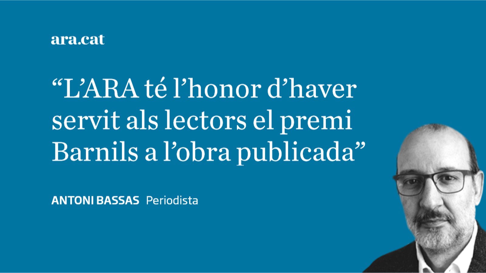 Premi Ramon Barnils al periodisme de l'ARA