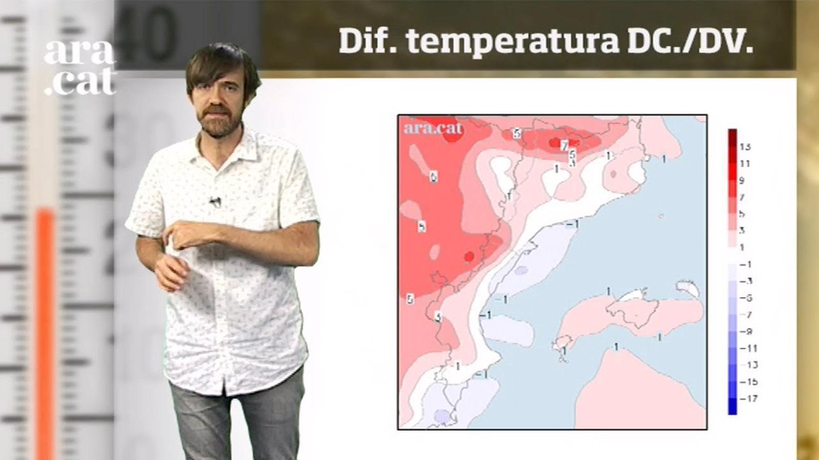La méteo en 1 minut: divendres hi haurà el pic de calor de la setmana