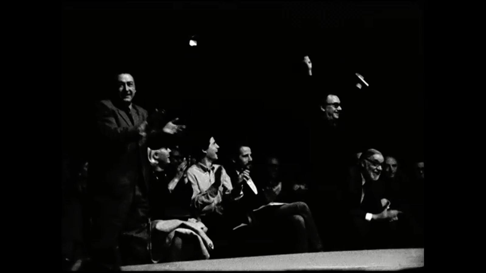 Un fotograma de la pel·lícula de Pere Portabella que es va rodar de manera clandestina al 'Price dels poetes' del 1970