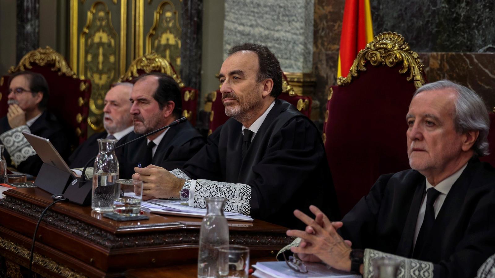El president de la sala segona del Tribunal Suprem, Manuel Marchena, aquest dijous durant el judici