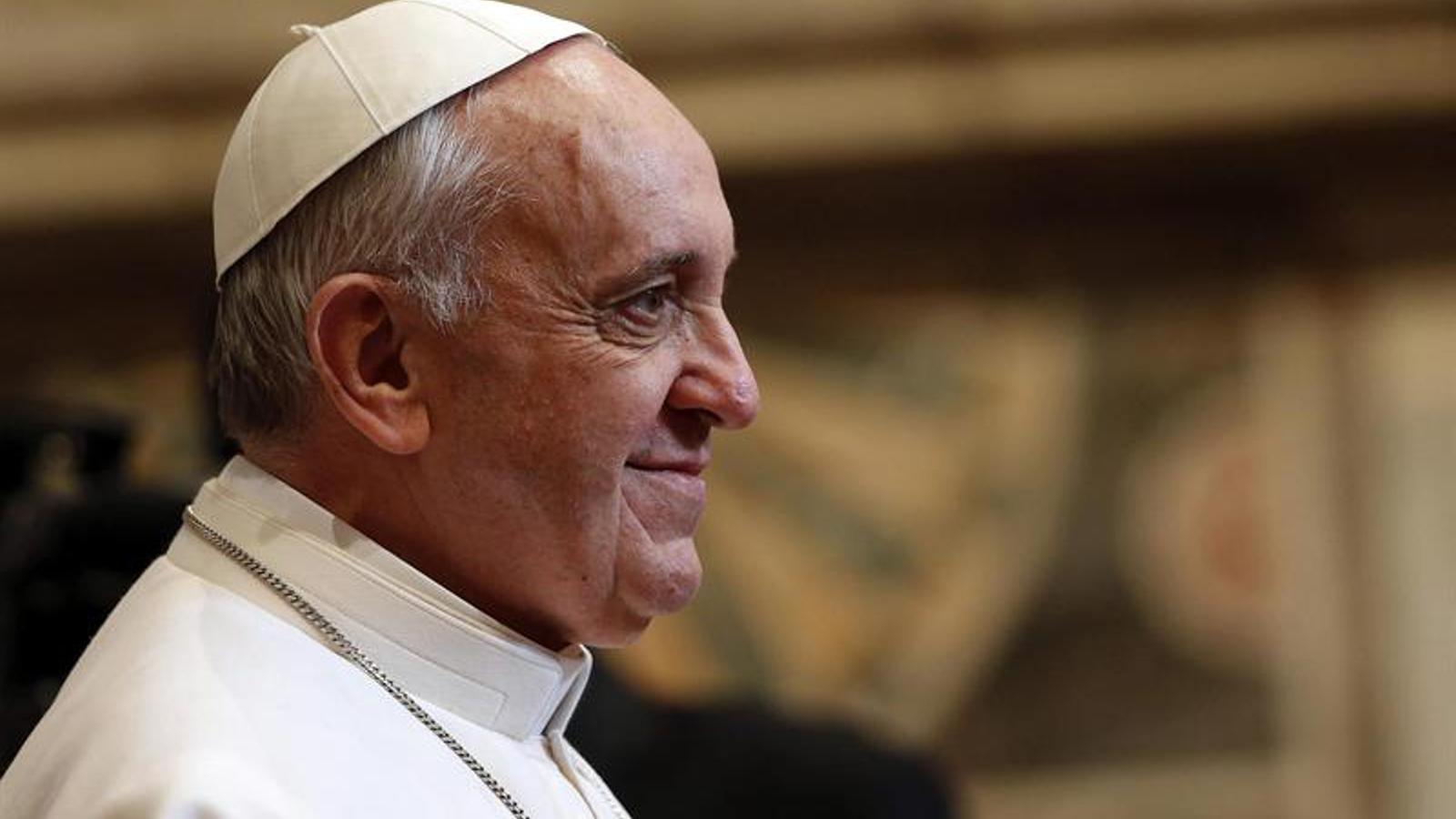 El papa Francesc, ahir al Vaticà / EFE