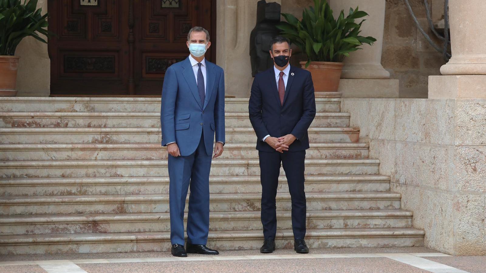 El rei Felip VI i el president del govern espanyol s'han reunit aquest dimecres a Marivent.