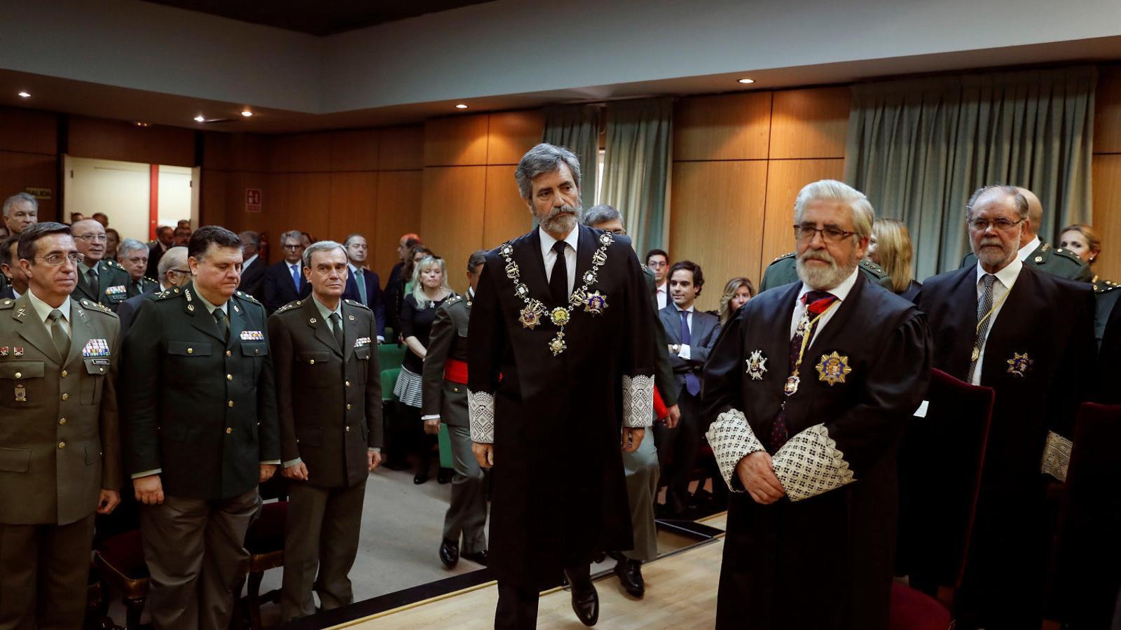 El president del Tribunal Suprem i del CGPJ, Carlos Lesmes, en una imatge d'arxiu.