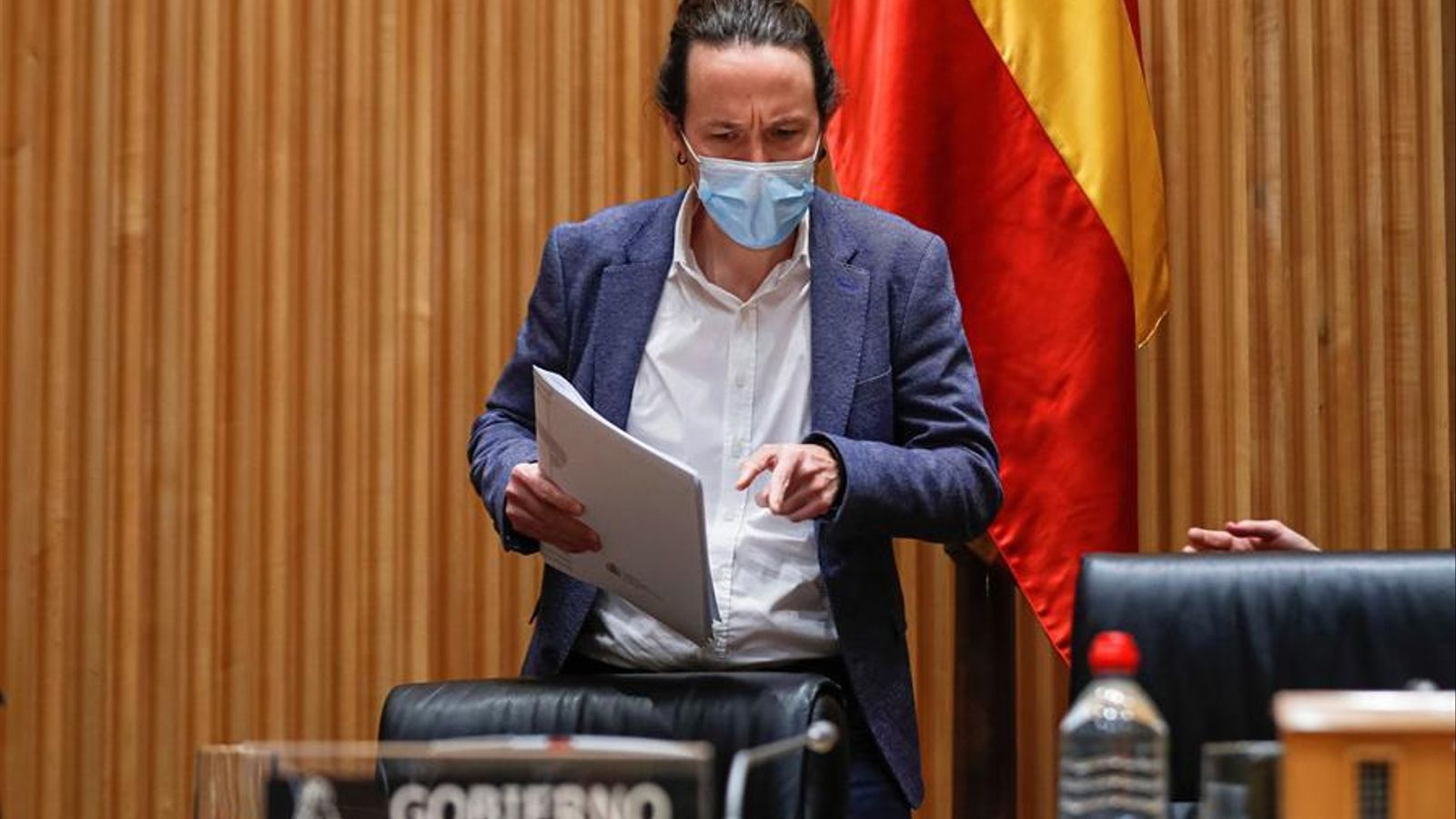 El vicepresident segon del govern espanyol, Pablo Iglesias, en comissió