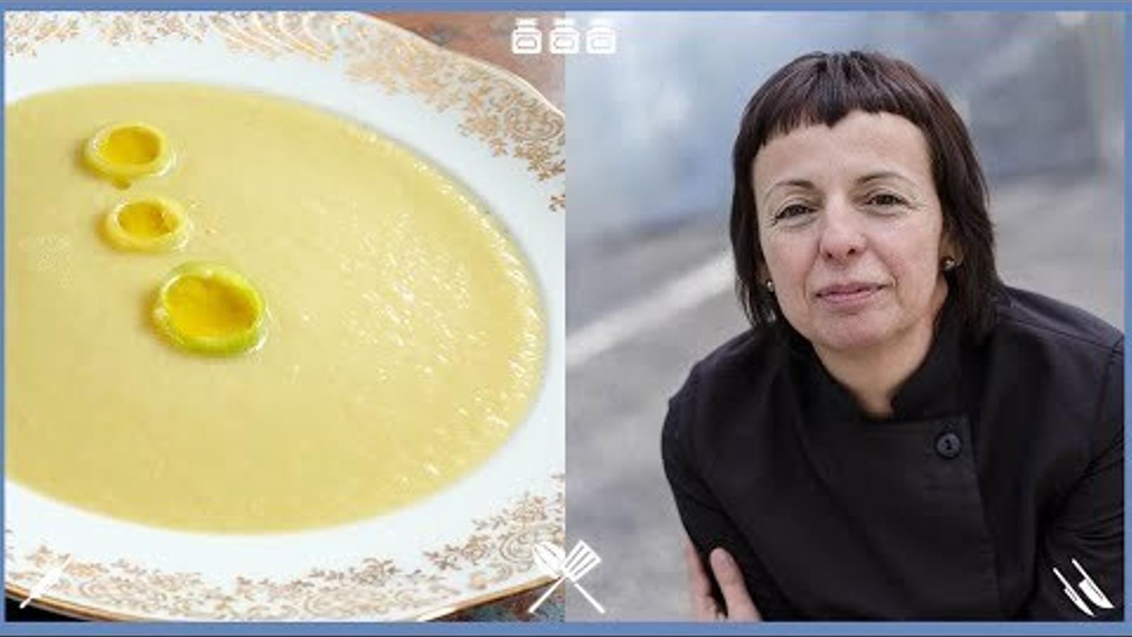 Com fer vichyssoise a l'estil del restaurant Les Cols d'Olot? Recepta de la cuinera Fina Puigdevall